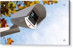 Surveillance Camera In The Daytime Acrylic Print by Allan Swart