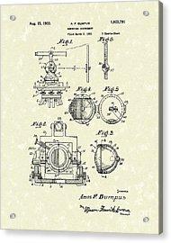 Surveying Instrument 1933 Patent Art Acrylic Print by Prior Art Design