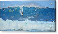 Surviving The Banzai Pipeline Acrylic Print