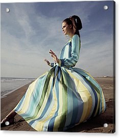Susan Murray Posing On A Beach Acrylic Print