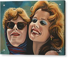 Susan Sarandon And Geena Davies Alias Thelma And Louise Acrylic Print