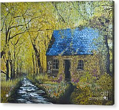 Acrylic Print featuring the painting Susan's Cottage by Suzette Kallen