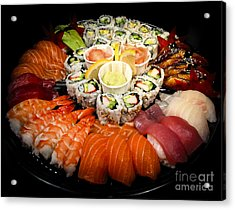 Sushi Party Tray Acrylic Print by Elena Elisseeva