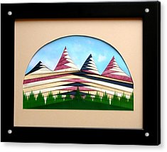 Acrylic Print featuring the mixed media Sushi by Ron Davidson