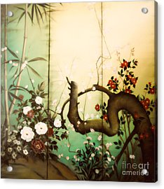 Sunshine In The Garden Acrylic Print by Sorin Apostolescu