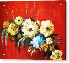 Acrylic Print featuring the painting Suspended Bouquet by Al Brown