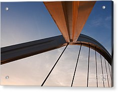 Suspension Bridge Acrylic Print by Rod McLean