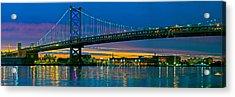 Suspension Bridge Across A River, Ben Acrylic Print