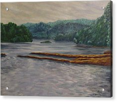 Susquehanna River At Saginaw Pa Acrylic Print by Joann Renner