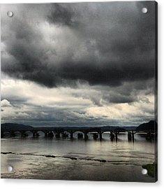 Susquehanna River Bridge Acrylic Print by Toni Martsoukos