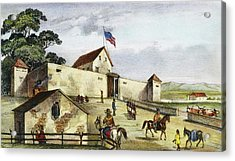 Sutter's Fort, 1849 Acrylic Print by Granger
