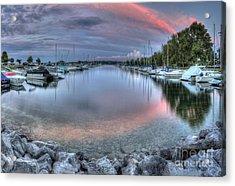Sutton's Bay Marina Acrylic Print by Twenty Two North Photography