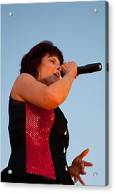 Suzanne Fox Of The Fabulous Kingpins Acrylic Print by David Patterson