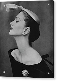 Suzy Parker In An Off-the-shoulder Dress Acrylic Print