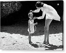 Suzy Parker With Her Daughter At Sam Lord's Acrylic Print