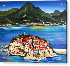 Sveti Stefan Montenegro 2 Acrylic Print