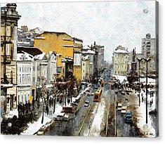 Svetlanskaya Street Vladivostok Acrylic Print by Jake Hartz