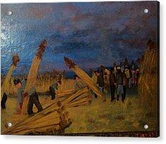 Svetsko Prvenstvo U Secenju Trske Acrylic Print by Lazar Caran