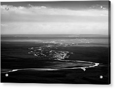 Svinafell Rivulets Acrylic Print by Dave Bowman