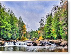 Swallow Falls Oil Painting Acrylic Print