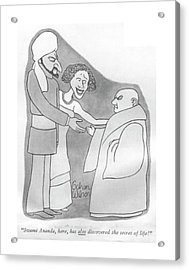 Swami Ananda Acrylic Print