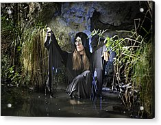 Swamp Hag In Blue Acrylic Print