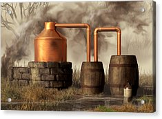Swamp Moonshine Still Acrylic Print by Daniel Eskridge