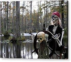 Swamp Pirate Acrylic Print by Karen Wiles