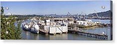 Swan Island Shipyard Panorama Acrylic Print
