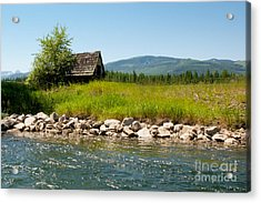 Swan River Cabin Acrylic Print by Vinnie Oakes