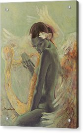 Swan Song Acrylic Print by Dorina  Costras