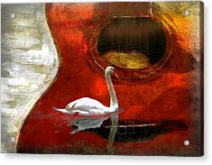 Swan Song Acrylic Print by Wendy Mogul