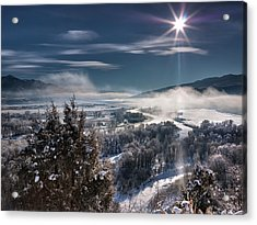 Swan Valley Winter Acrylic Print by Leland D Howard