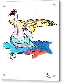 Swan2010 Acrylic Print by Loretta Nash