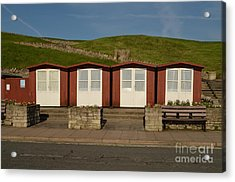 Swanage Beach Huts Acrylic Print by Linsey Williams