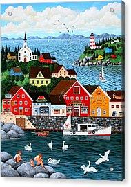 Swan's Cove Acrylic Print