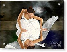 Swans Acrylic Print by Sydne Archambault