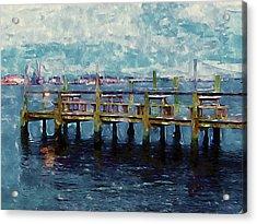 Swansboro Dock 1 Acrylic Print by Lanjee Chee