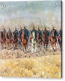 Swansong Of The Hussars Acrylic Print by Ludwig Koch