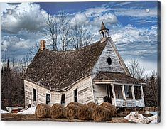Sway Back School House Acrylic Print by Paul Freidlund