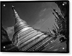 Swedagon Scene Acrylic Print by David Longstreath