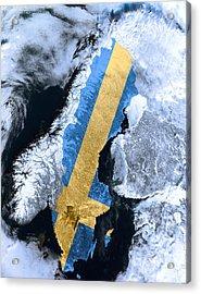 Sweden Pride Acrylic Print by Daniel Hagerman