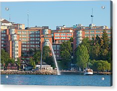 Sweden, Stockholm - Modern Offices Acrylic Print by Panoramic Images