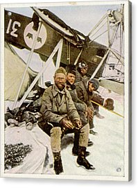 Swedish Aviator Lundborg, Who Acrylic Print by Mary Evans Picture Library