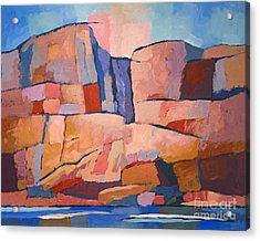 Swedish Cliffs Acrylic Print by Lutz Baar