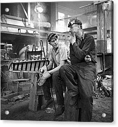 Swedish Foundry Workers Acrylic Print by David Murphy