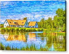 Swedish Lakehouse Acrylic Print by Antony McAulay