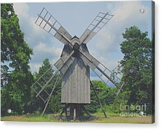 Swedish Old Mill Acrylic Print by Sergey Lukashin