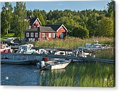 Swedish Summer Acrylic Print by Nancy De Flon