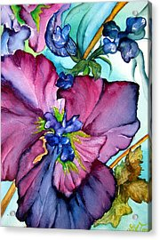 Sweet And Wild In Turquoise And Pink Acrylic Print by Lil Taylor